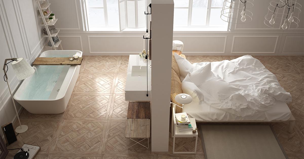 Sparkasse Unser Lieblingsort Bad im Schlafzimmer